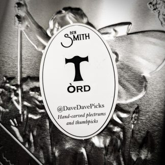 Òrd sticker - oval, black and white